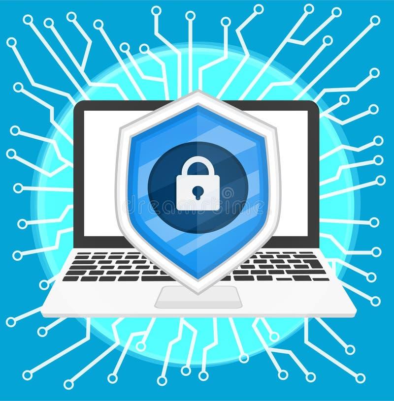 Segurança do Cyber ilustração royalty free