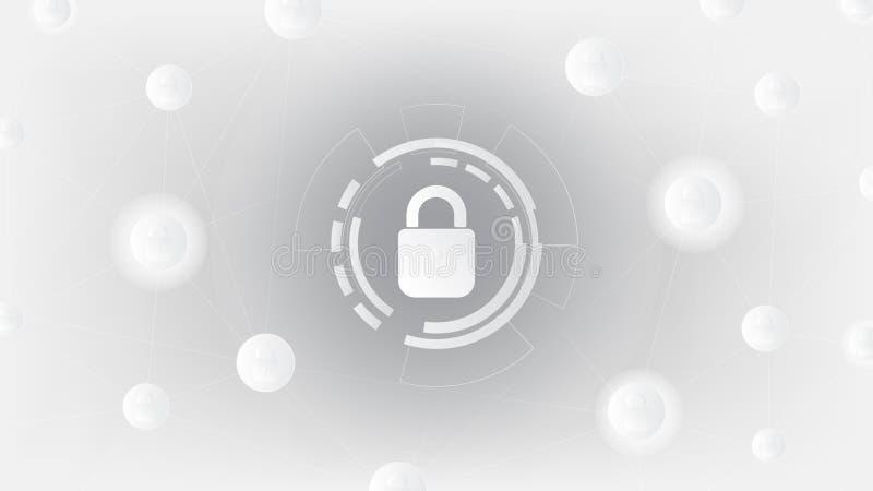 Segurança do cyber e fundo abstratos da proteção de informação ilustração do vetor