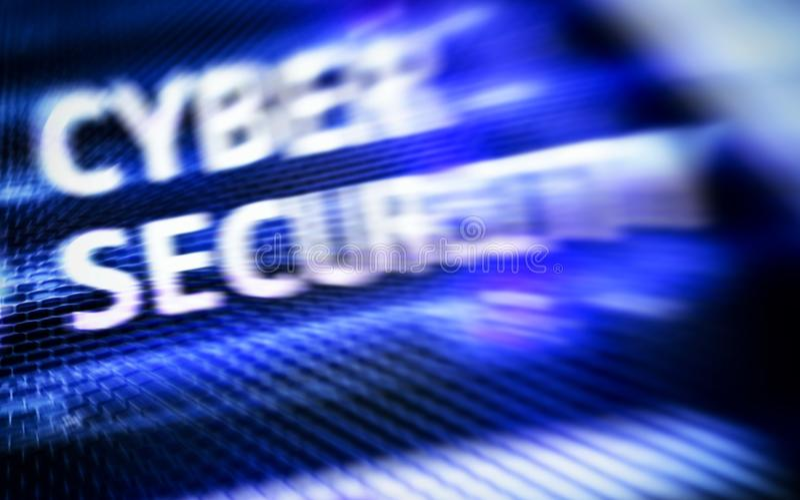 Segurança do Cyber, proteção de dados, privacidade da informação Conceito do Internet e da tecnologia fotografia de stock
