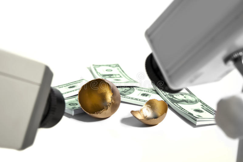 Segurança do dinheiro fotografia de stock royalty free