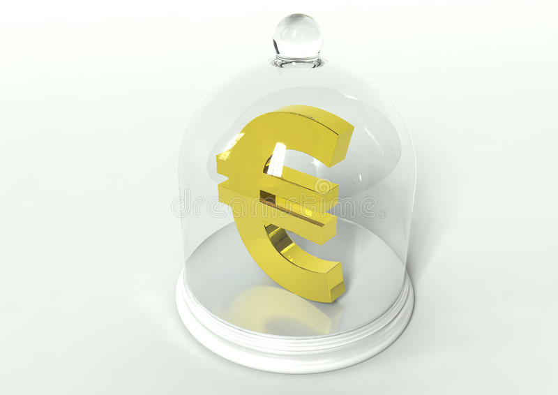 Segurança do euro do Eu ilustração royalty free