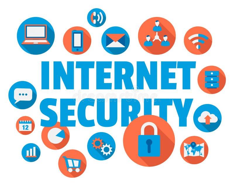 Segurança do Internet ilustração stock