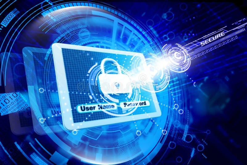Segurança do Internet imagem de stock
