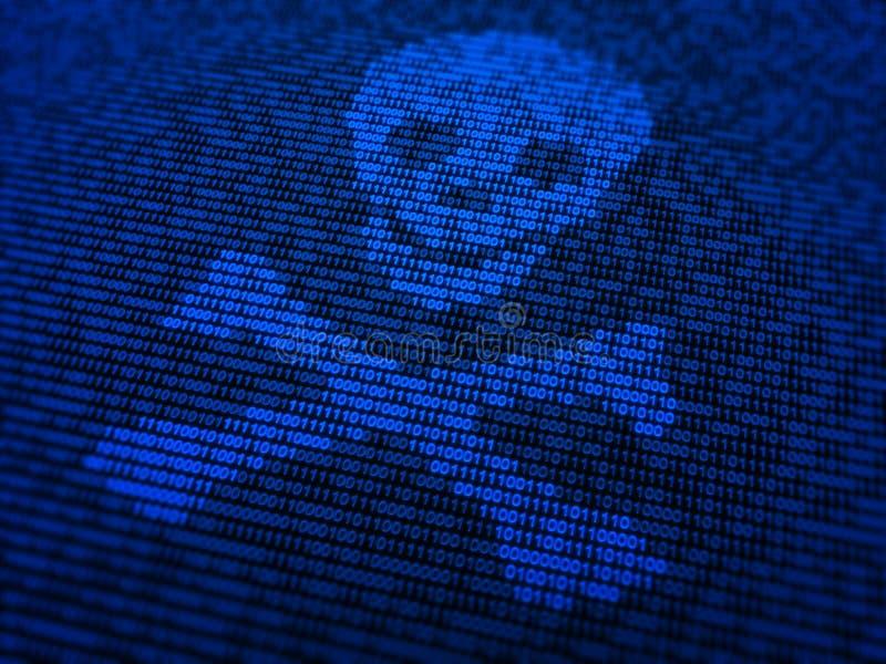 Segurança do Internet e ilustração do conceito do malware ilustração do vetor