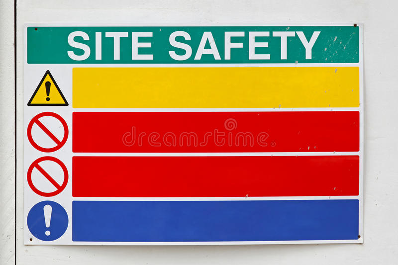 Segurança do local fotografia de stock royalty free