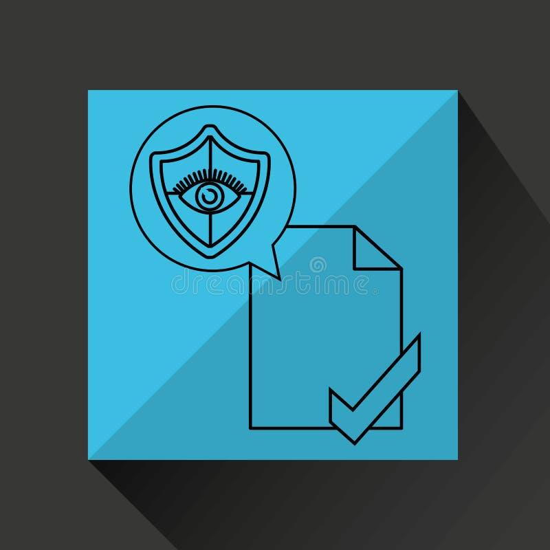 Segurança do original do protetor do olho ilustração do vetor