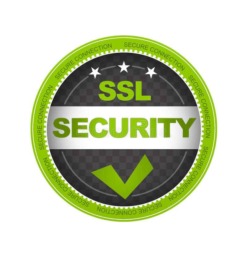 Segurança do SSL ilustração do vetor