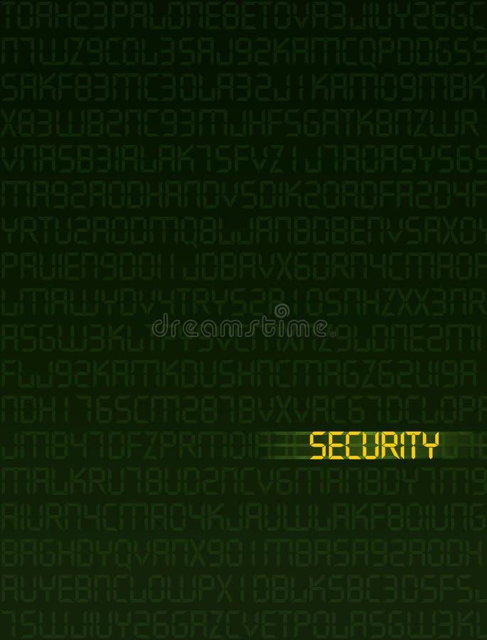 Segurança dos dados ilustração do vetor
