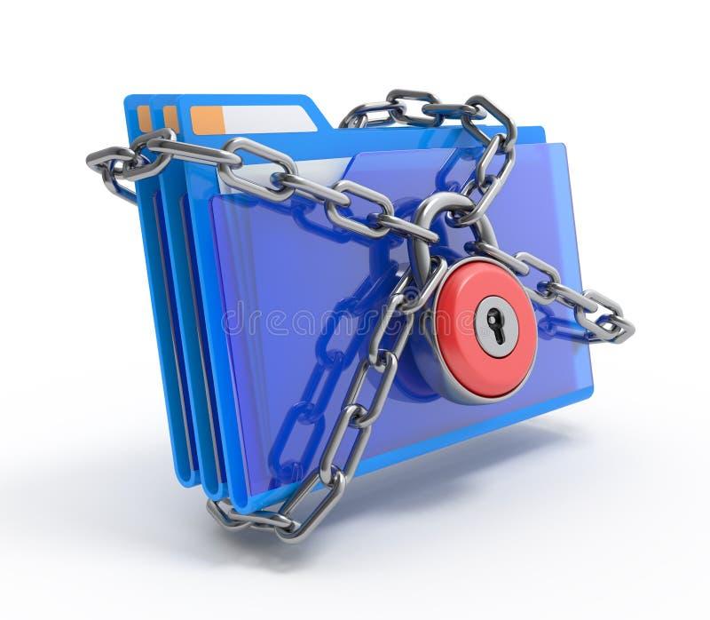 Segurança dos dados. ilustração royalty free