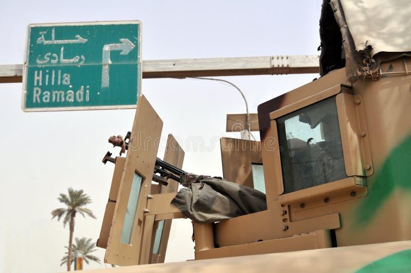 Segurança em Iraque fotos de stock