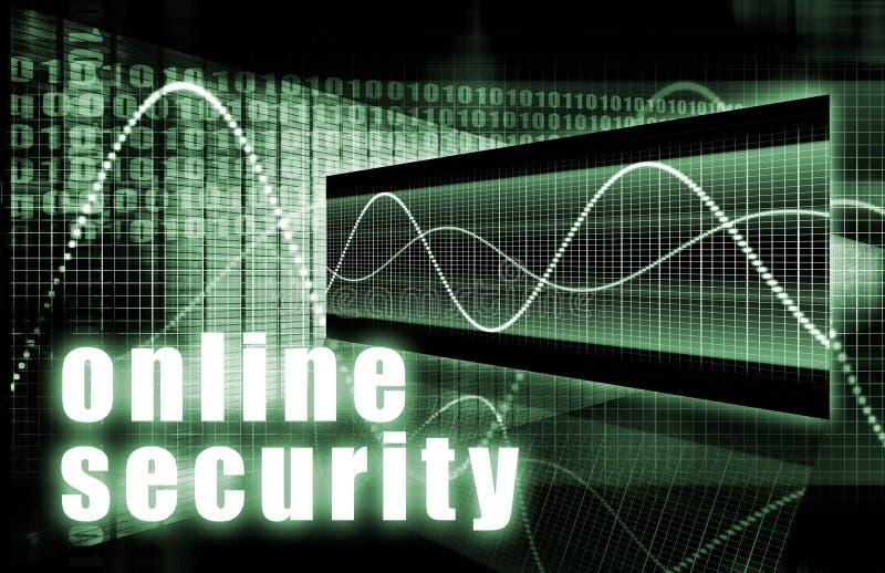 Segurança em linha ilustração royalty free