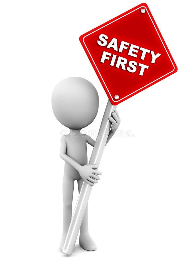 Segurança em primeiro lugar ilustração stock
