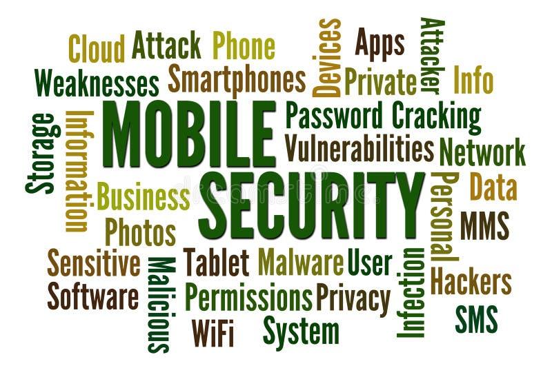 Segurança móvel ilustração do vetor