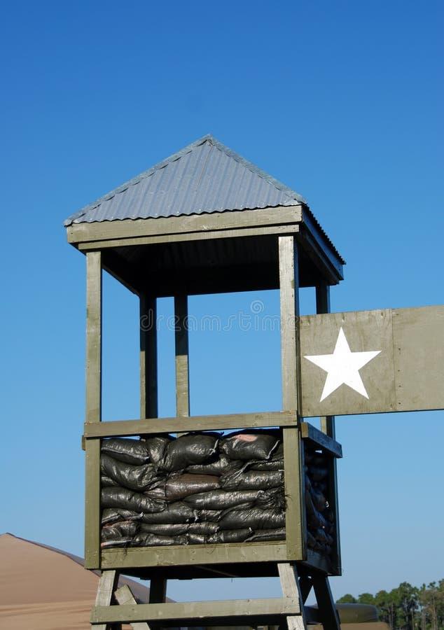 Segurança militar do acampamento imagens de stock royalty free