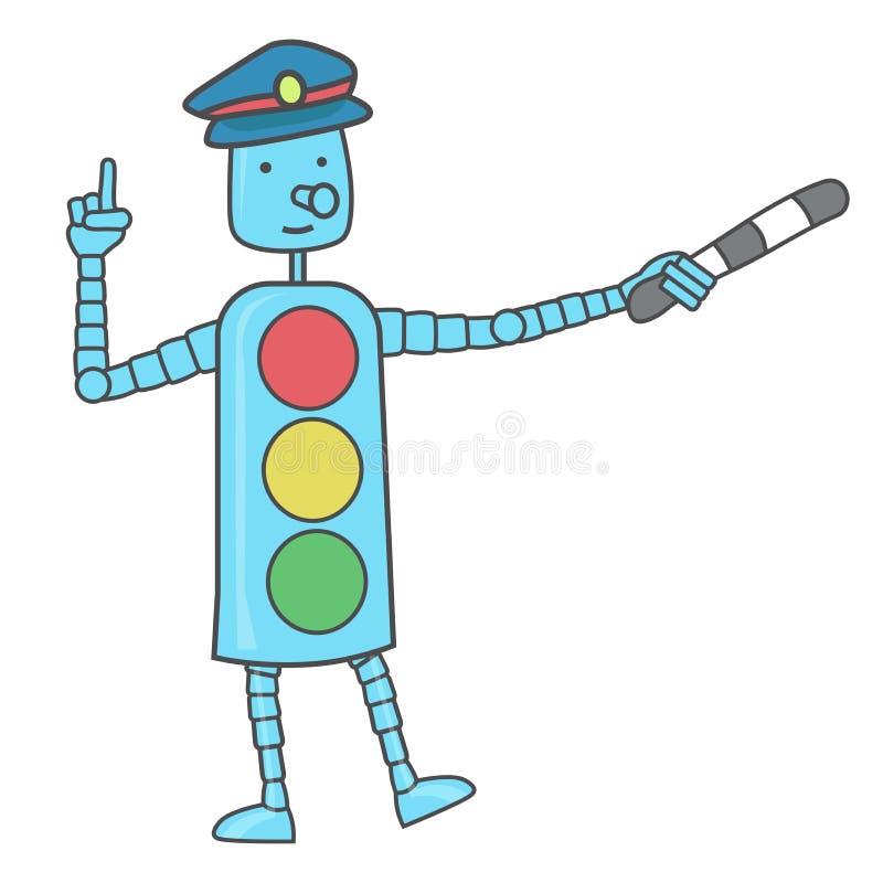 Segurança na estrada Um sinal claro para crianças ilustração royalty free