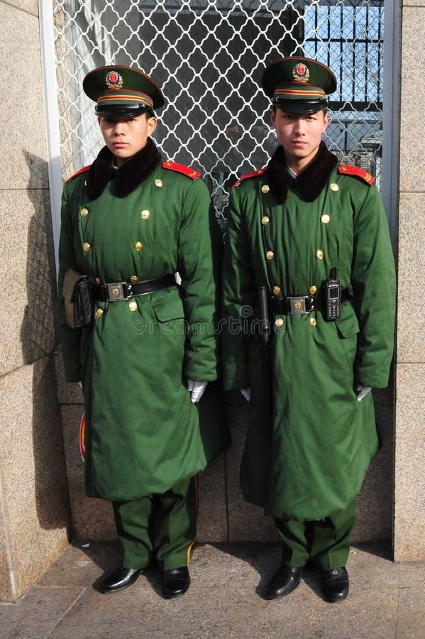 Segurança no metro de Beijing fotografia de stock royalty free