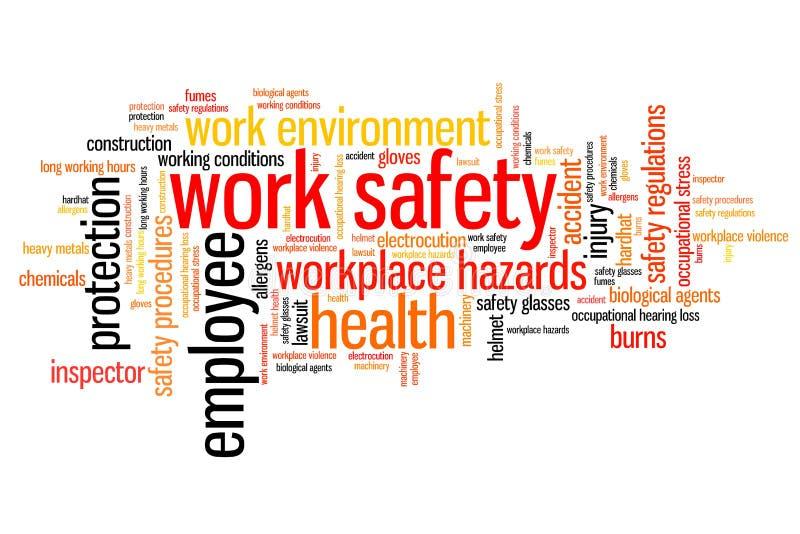 Segurança no trabalho ilustração do vetor