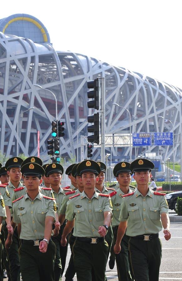 segurança olímpica foto de stock