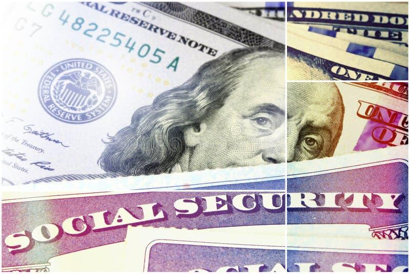 Segurança social e rendimento na reforma imagem de stock
