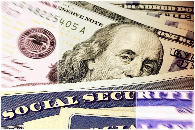 Segurança social e rendimento na reforma fotos de stock