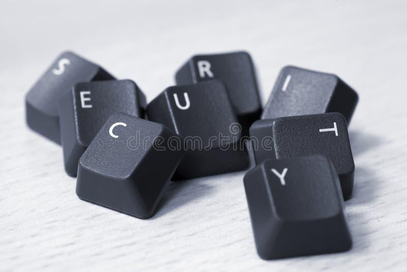 SEGURANÇA soletrada com chaves de teclado fotos de stock royalty free