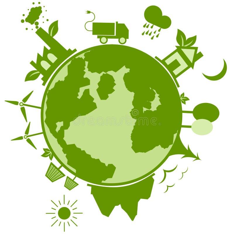 Segurança verde da natureza da ecologia ilustração royalty free