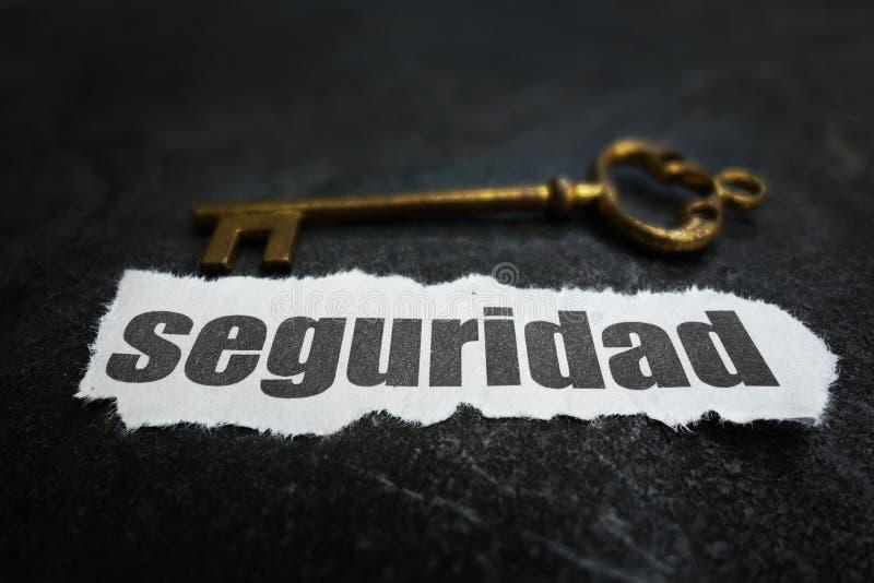 Seguridad新闻钥匙 图库摄影