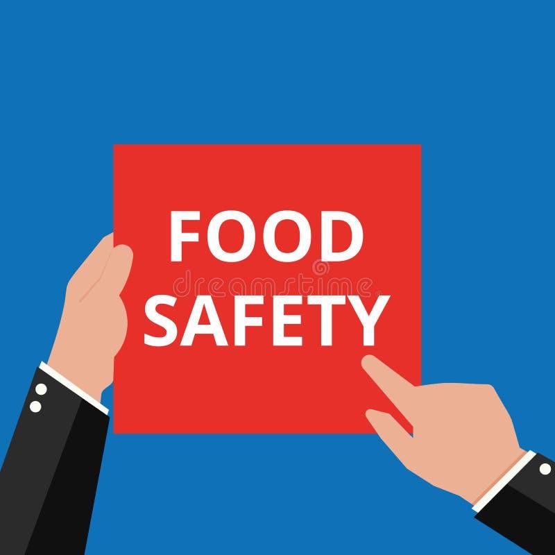 Seguridad alimentaria que muestra de escritura conceptual stock de ilustración