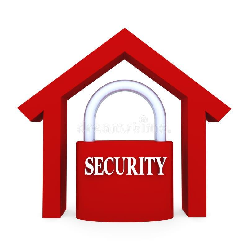 Seguridad casera stock de ilustración