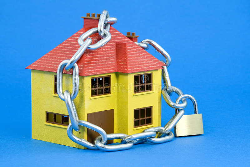 Seguridad casera (versión azul) foto de archivo libre de regalías