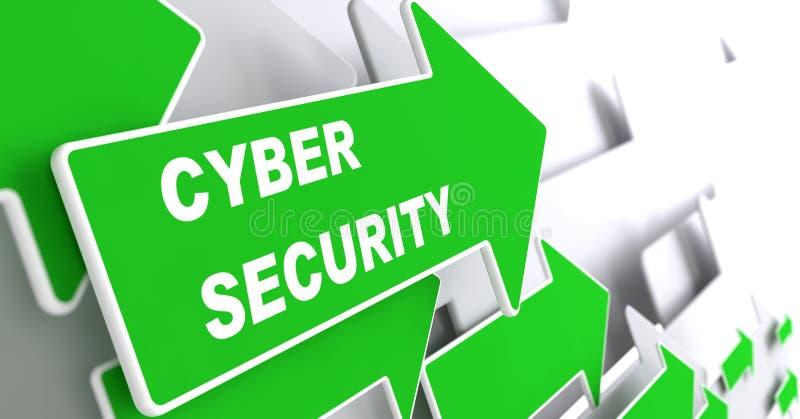 Seguridad cibernética. Concepto de la seguridad. ilustración del vector