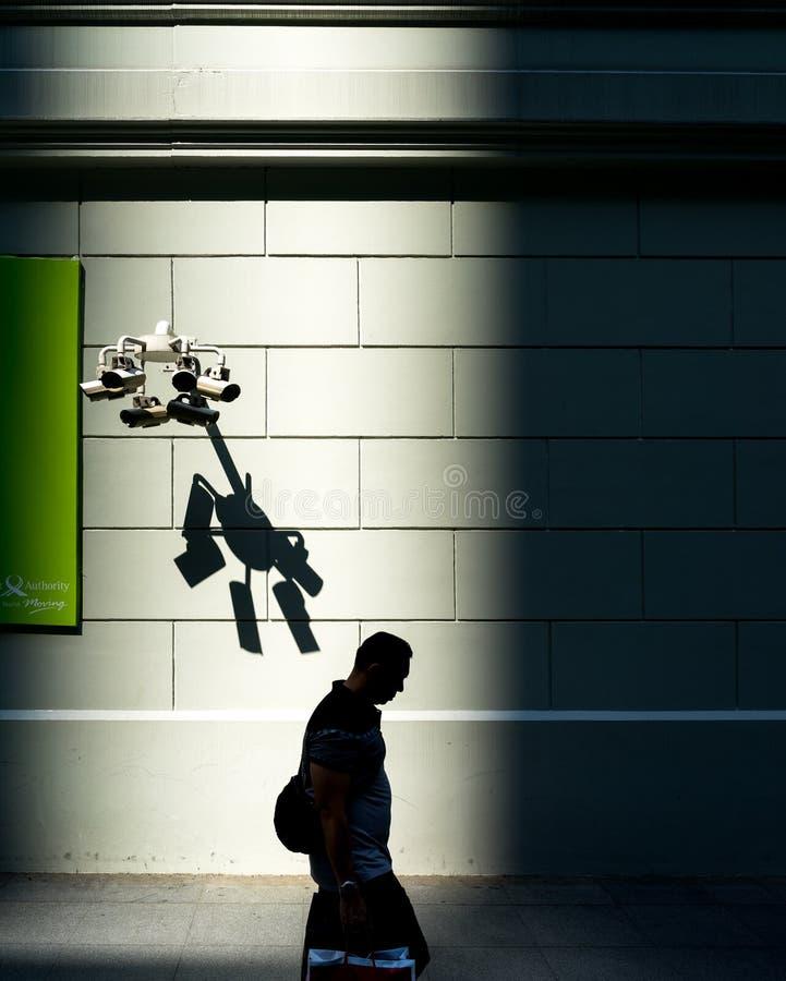 Seguridad cibernética de Big Brother Surveillance Monitoring Safety imagen de archivo libre de regalías