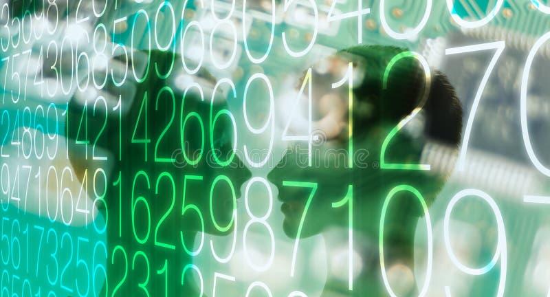 Seguridad cibernética de la contraseña digital del ordenador fotografía de archivo libre de regalías