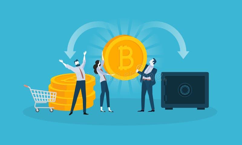 Seguridad de Bitcoin stock de ilustración