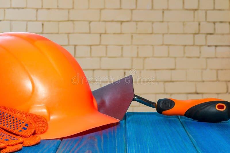 Seguridad de construcción estándar, protección constructiva y herramientas fotografía de archivo