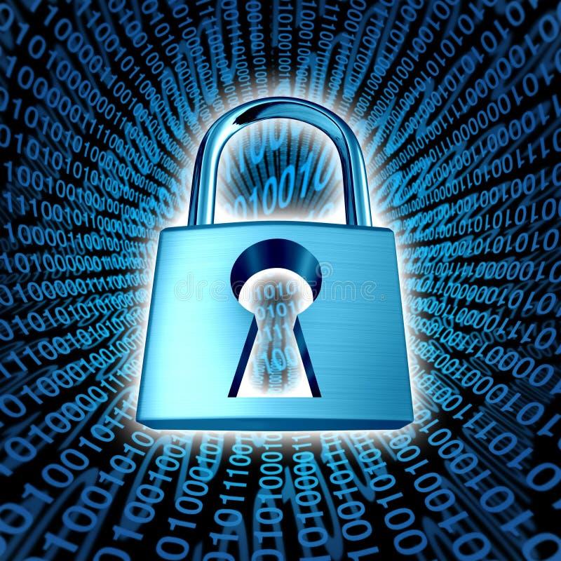 Seguridad de datos stock de ilustración