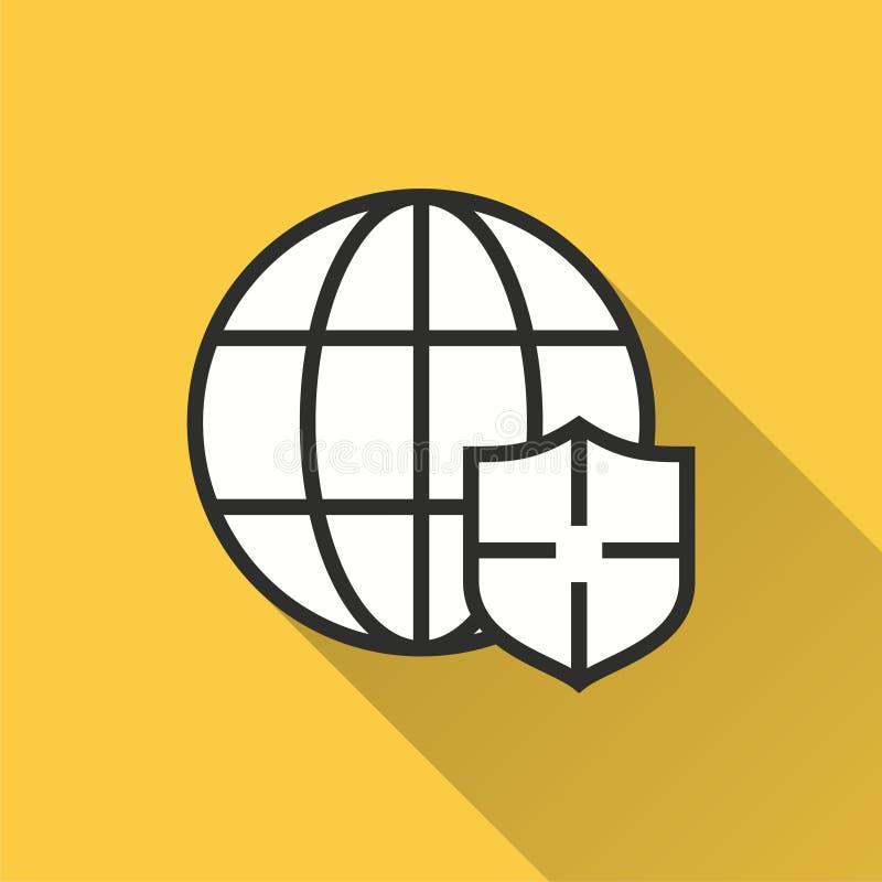 Seguridad de datos - icono del vector para el gráfico y el diseño web libre illustration