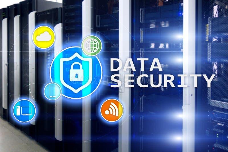 Seguridad de datos, prevención de la delincuencia cibernética, protección de información de Digitaces Cierre los iconos y el fond imagen de archivo libre de regalías