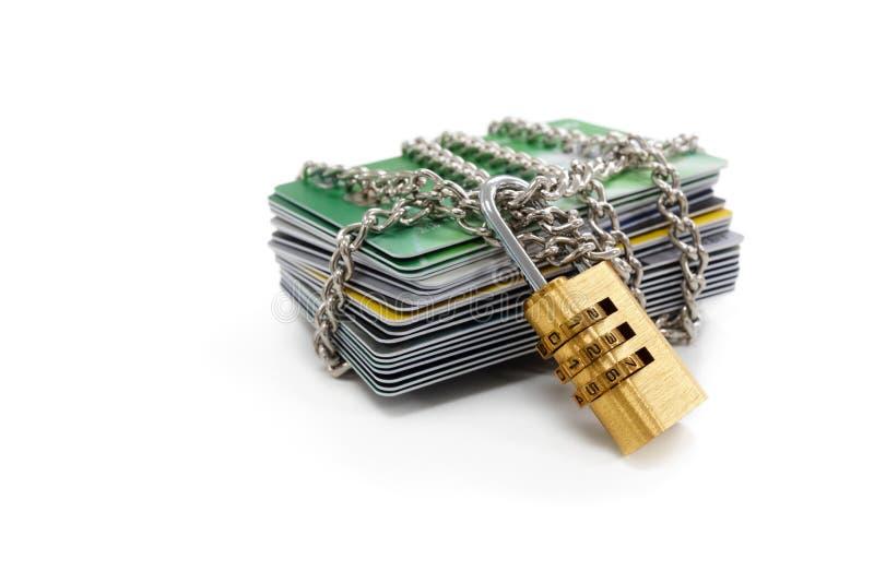 Seguridad de datos de tarjeta de crédito imagenes de archivo