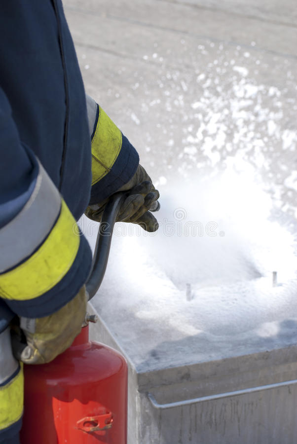 Seguridad de fuego fotografía de archivo libre de regalías