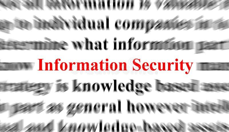 Seguridad de información ilustración del vector