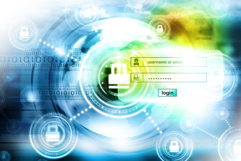 Seguridad de Internet ilustración del vector