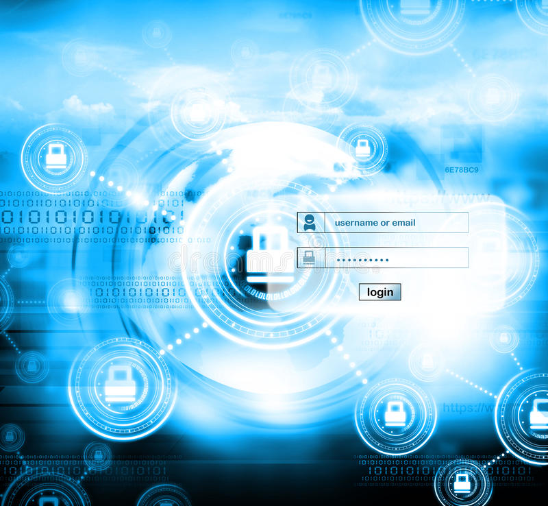 Seguridad de Internet stock de ilustración