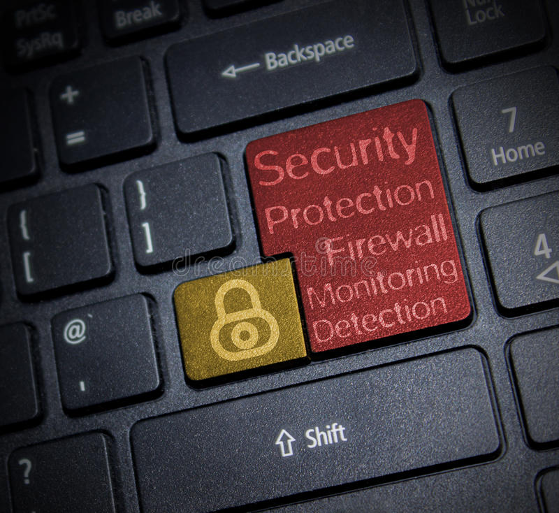 Seguridad de Internet imagenes de archivo
