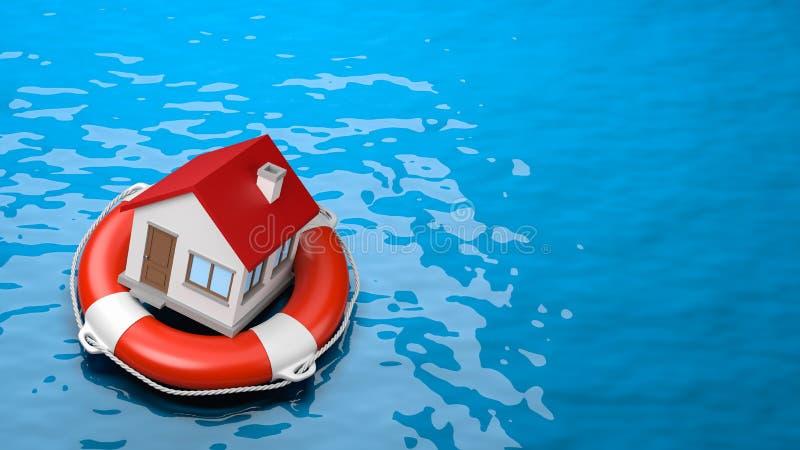 Seguridad de la casa stock de ilustración