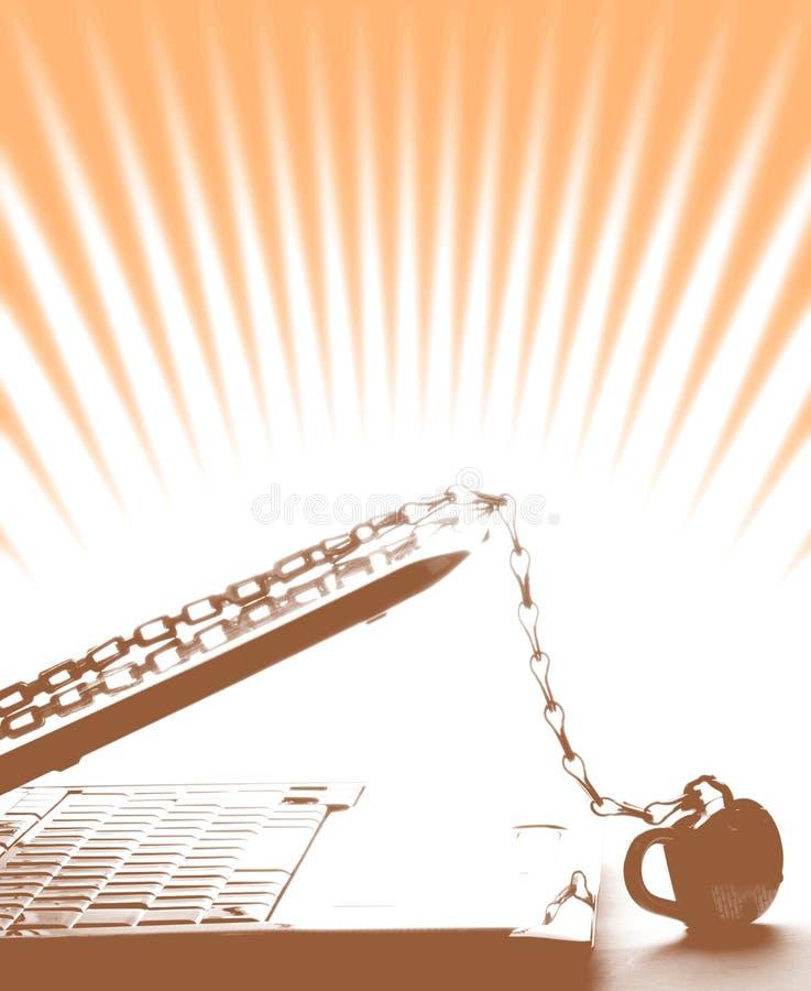 Seguridad de la computadora portátil fotos de archivo