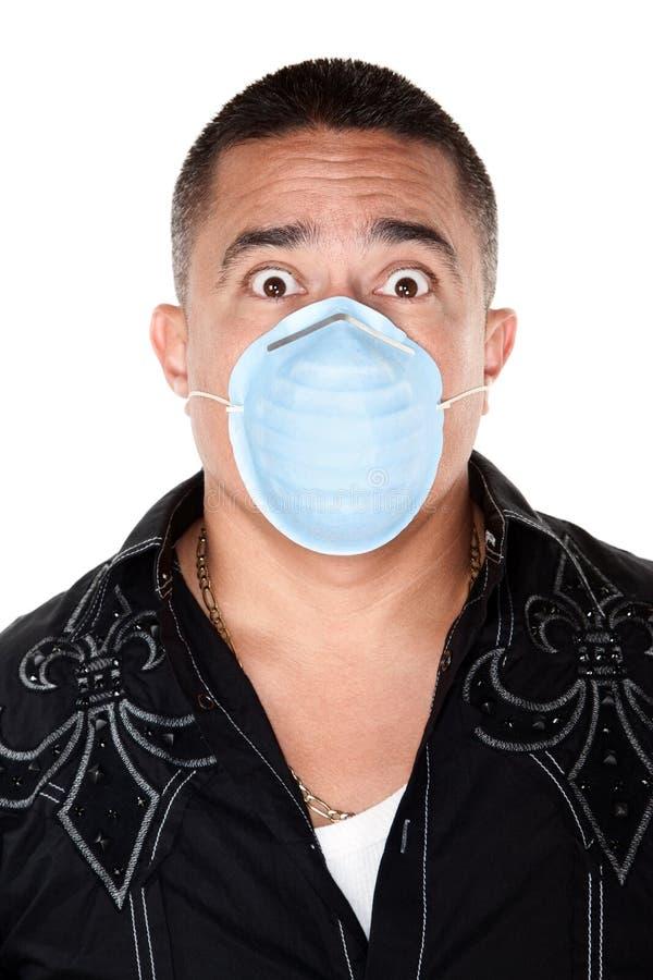 Seguridad de la máscara quirúrgica imagenes de archivo