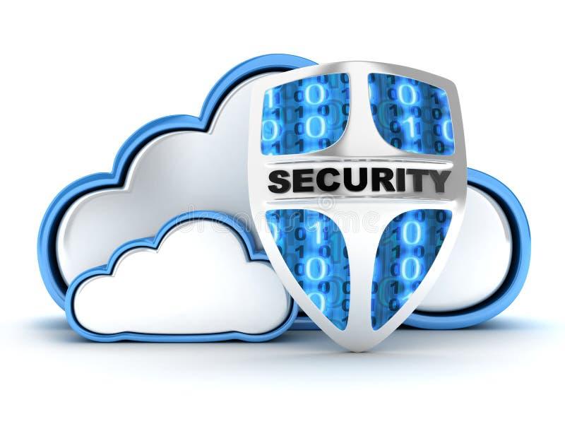 Seguridad de la nube stock de ilustración