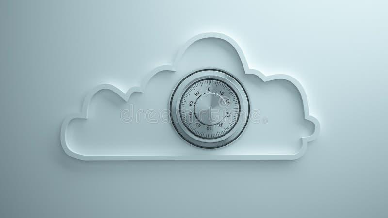 Seguridad de la nube fotografía de archivo libre de regalías
