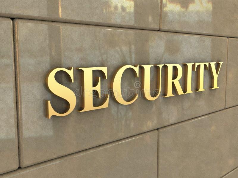 Seguridad de la palabra foto de archivo libre de regalías